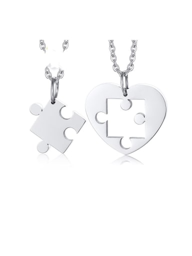 Stainless Steel With Platinum Plated Personality Irregular Necklaces