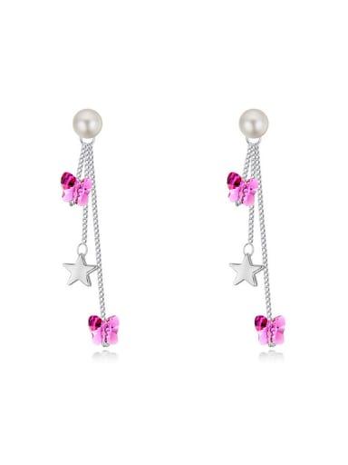 Fashion Butterfly Swarovski Crystals Star Alloy Drop Earrings