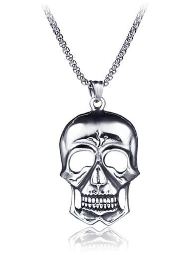 Stainless Steel With Trendy Skull Necklaces