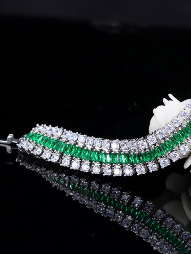 Luxury Bling bling 18-Gold plated zircon bracelet 18CM