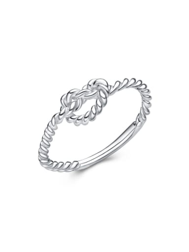 Twisted Silver Wedding Accessories Fashion Ring