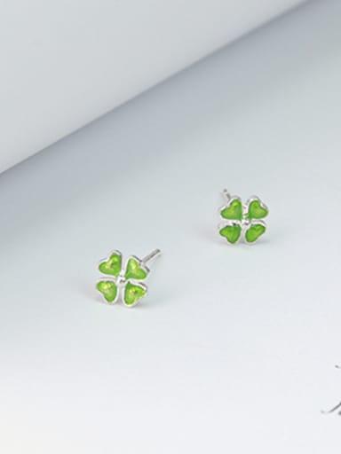 Tiny Four-leaf Clover Stud Earrings