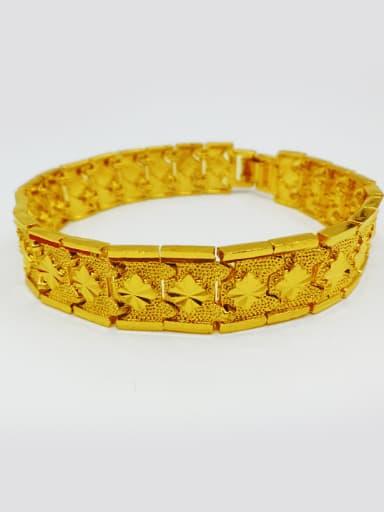 Men All-match Gold Plated Star Bracelet