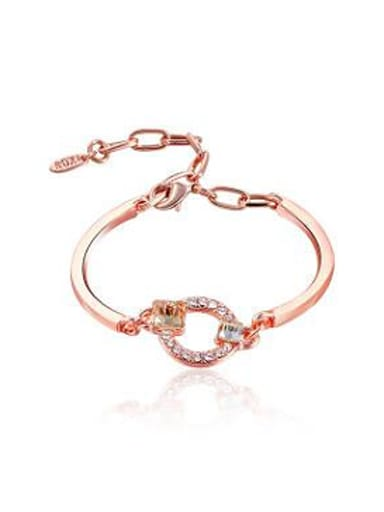 Adjustable Length Oval Shaped Zircon Bracelet