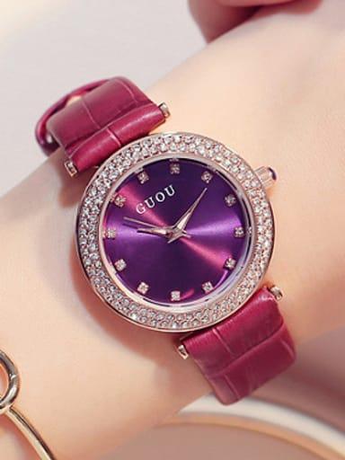 2018 GUOU Brand Simple Rhinestones Women Watch