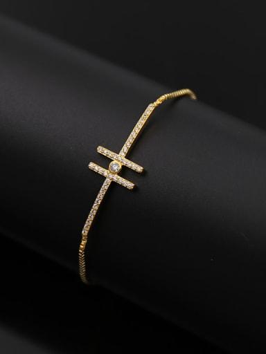 H Copper Stretch Bracelet