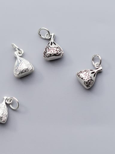 925 Sterling Silver With Silver Plated Ethnic Geometric Purse Charms