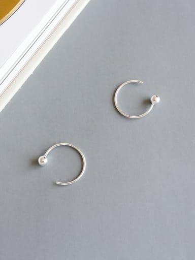 Sterling Silver simple geometric Bead Earrings