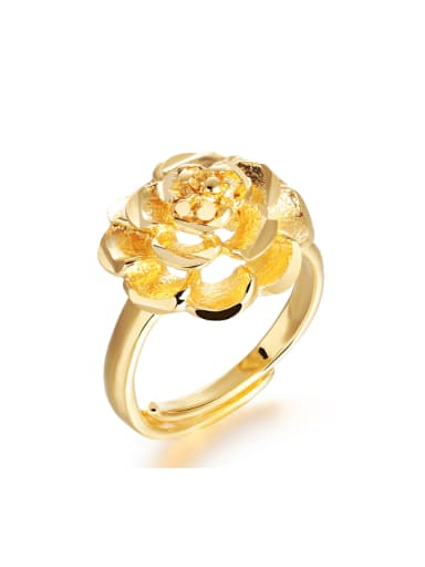 Rosary Flower Gold Plated Opening Ring