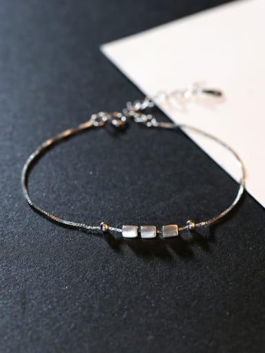 Simple Geometrical Silver Women Bracelet