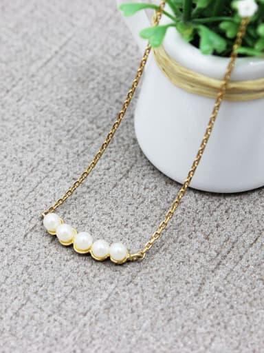 Creative Lentils Folder Artificial Pearl Necklace