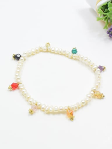 Women Elegant Freshwater Pearl Elastic Bracelet