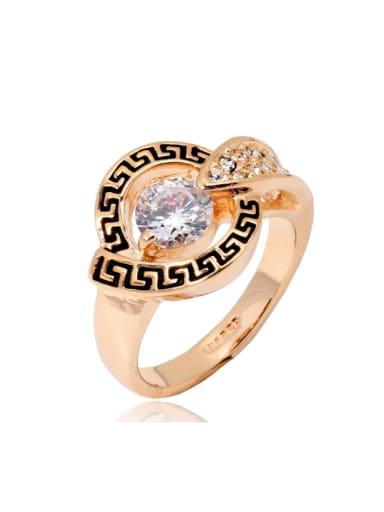 Retro Style Noble Ring with Shining Zircon