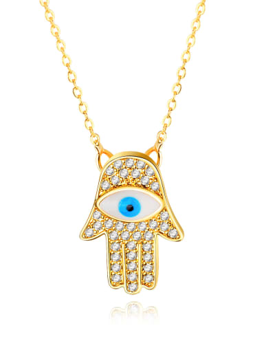 Copper With 18k Gold Plated Personality Evil Eye Necklaces