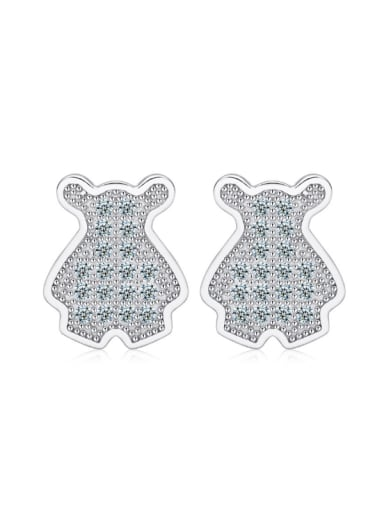 Hot Selling Lovely Dogs Stud Earrings with Zircons