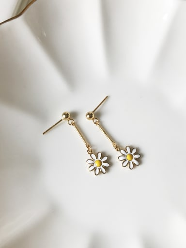 Pure silver gold Mini chrysanthemum ear studs(MINI)
