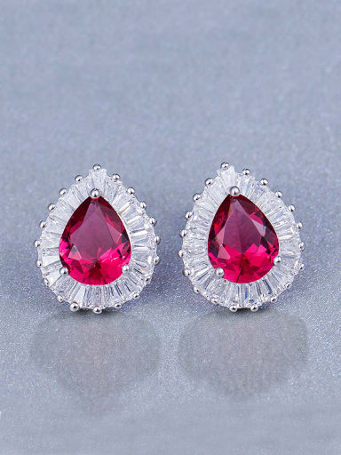 Water Drop Zircon Cluster earring