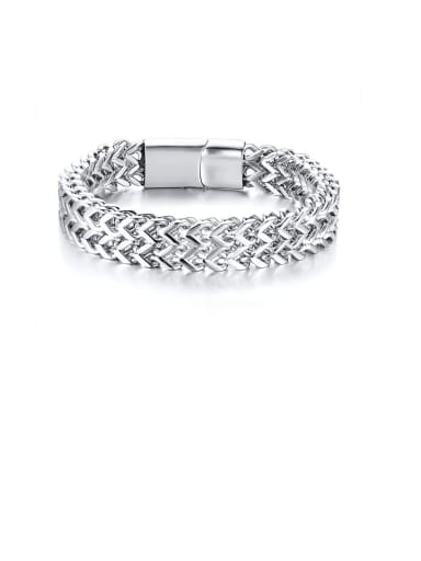 Stainless Steel With Platinum Plated Simplistic Chain Bracelets