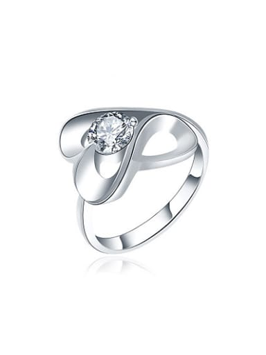 Elegant Number Eight Shaped Zircon Women Ring