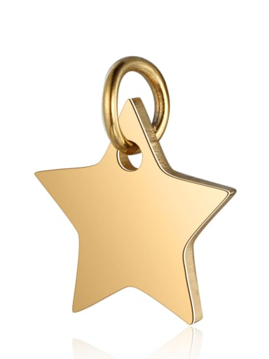 Stainless Steel With Gold Plated Classic Star Charms