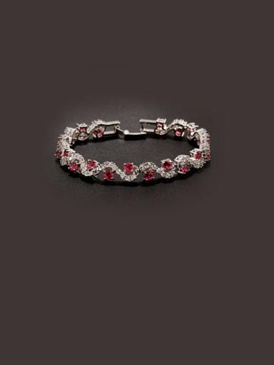 Zircon Crystal Women's With Platinum Bracelet
