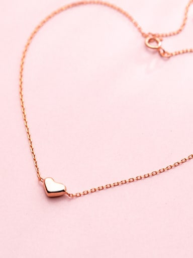 925 Sterling Silver With Rose Gold Plated Delicate Heart Anklets