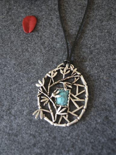 Women Retro Bamboo Shaped Necklace