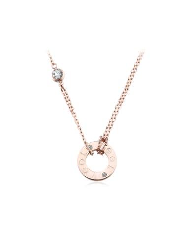 Fashion Titanium Rose Gold Necklace