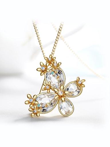 Swarovski Crystal Butterfly Shaped Brooch