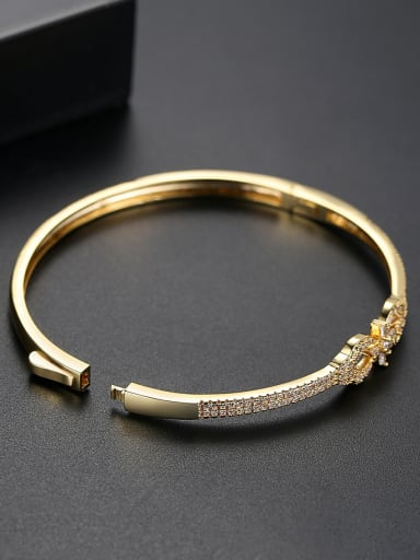 Copper With Gold Plated Fashion Bowknot Bangles