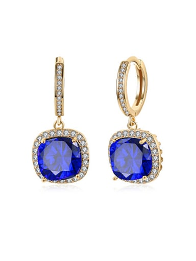 Fashion Square Zircon Rhinestones Earrings