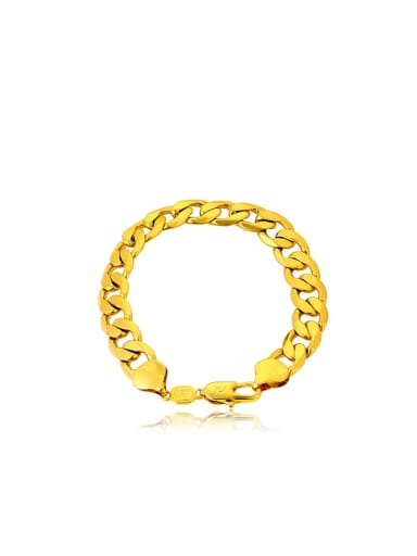 Copper Alloy 23K Gold Plated Fashion Men Bracelet