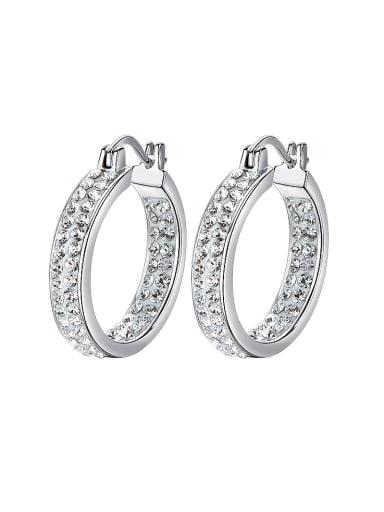 S925 Silver Crystal hoop Earring