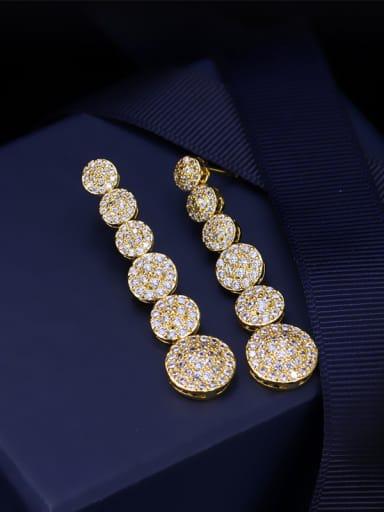 High Quality Zircons Drop Chandelier earring