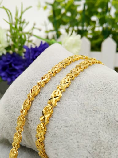 Women All-match Gold Plated Heart Shaped Necklace