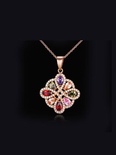 Flower Shaped Western Style Necklace