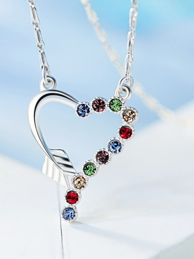 Heart-shaped Colorful Crystal Necklace