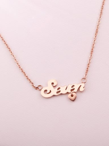 Simple Letter Pendant Clavicle Necklace