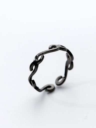 Personality Flower Vine Shaped Open Design S925 Silver Ring