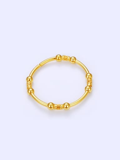 Copper Alloy 24K Gold Plated Classical Beads Bangle