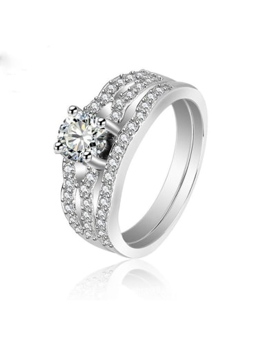 925 Sterling Silver With Cubic Zirconia Delicate Irregular Stacking Rings