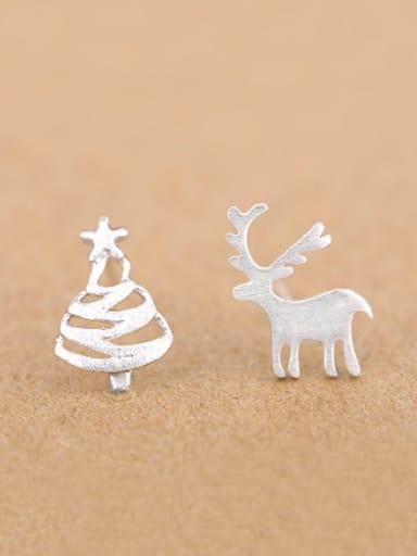 Reindeer Christmas Tree Stud cuff earring