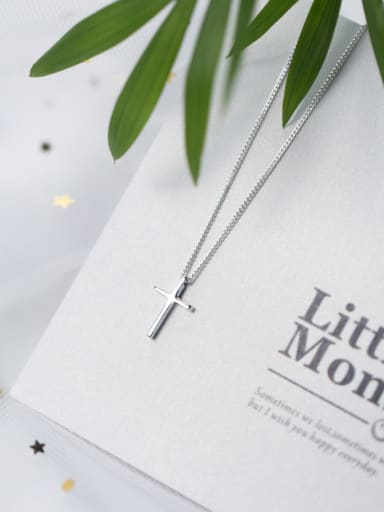 S925 Silver Cross elegant Necklace