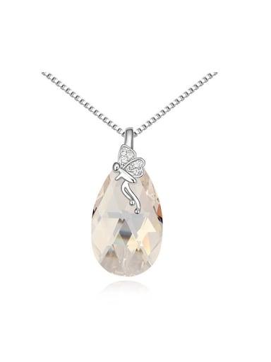 Fashion Water Drop Swarovski Crystal Little Angel Pendant Alloy Necklace