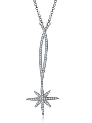 Fashion micro-inlay AAA zircon star necklaces