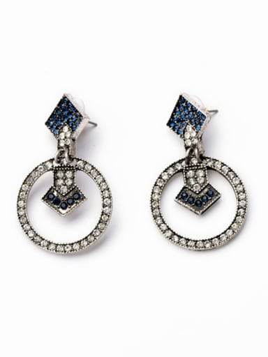 Rhinestones Personality drop earring