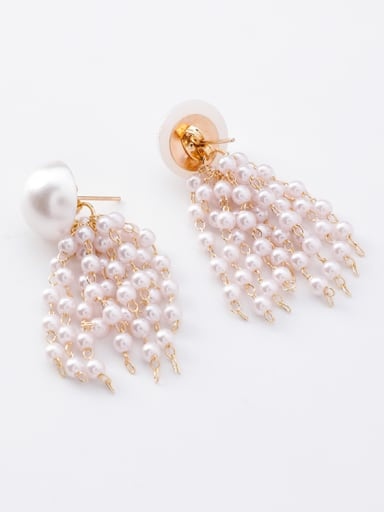 Alloy With Rose Gold Plated Trendy Charm Earrings