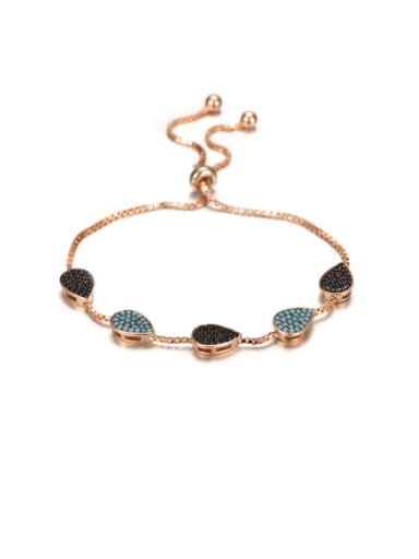 S925 Sterling Silver Inlaid Turquoise Bracelet