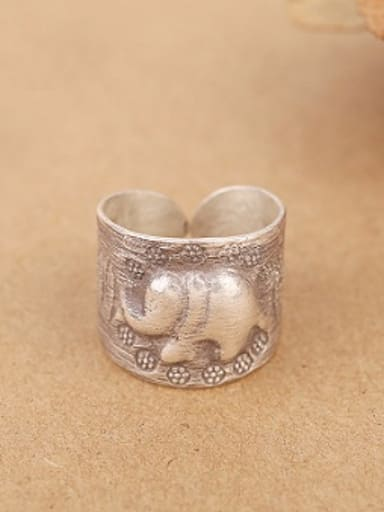 Retro Elephant God Handmade Ring