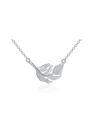 Fresh Leaf-shape Sweet Pendant Women Necklace